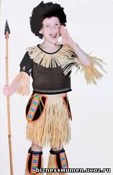 Как сделать костюм африканца для мальчика своими